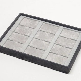 Stacking tray with 12 pads