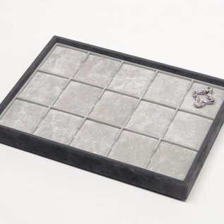 Stacking tray with 15 pads