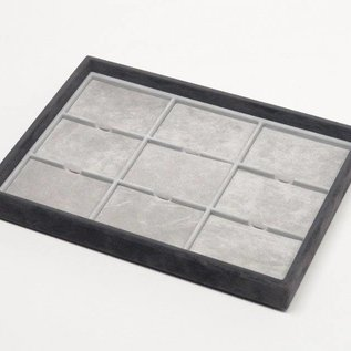 Stacking tray with 9 pads
