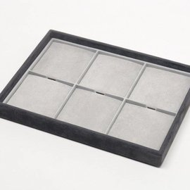 Stacking tray with 6 pads