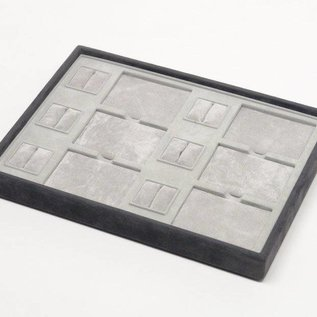Stacking tray with 6 pads and 6 ring pads