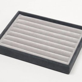 Stacking tray with sliding rollers for wide rings