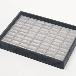 Stacking tray with 35 ring pads