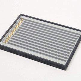Stacking tray with 12 compartments and hooks