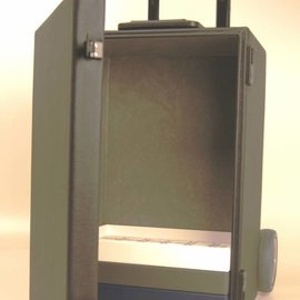 Light sample case with cart