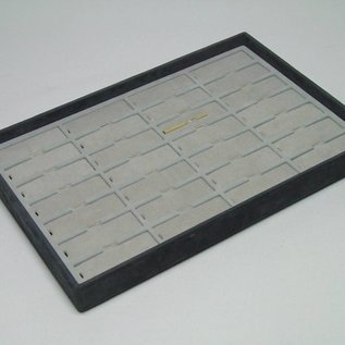 Stacking tray with 28 pads