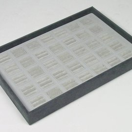 Stacking tray for 35 pairs of wedding rings