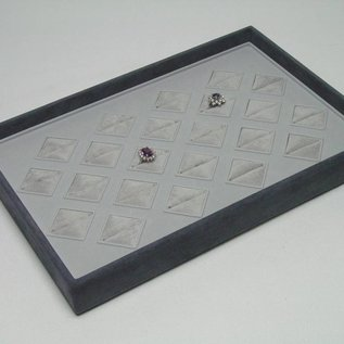 Stacking tray with 22 ring pads