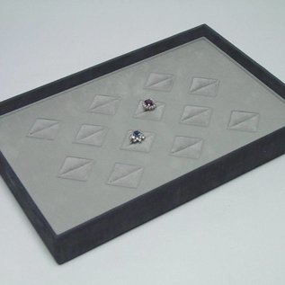 Stacking tray with 12 ring pads