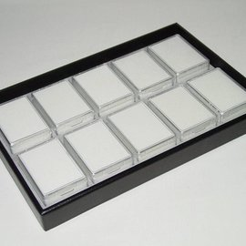 Stacking tray with 10 boxes