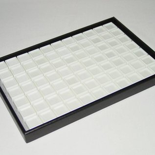 Stacking tray with 77 boxes