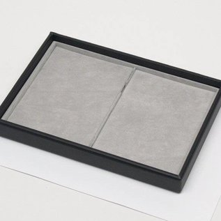 Stacking tray with 2 pads