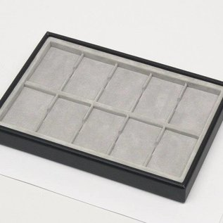 Stacking tray with 10 pads