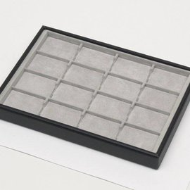 Stacking tray with 16 pads
