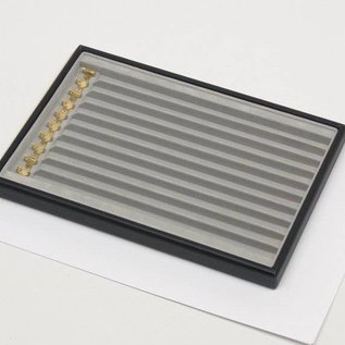 Stacking tray with 10 compartments with hooks