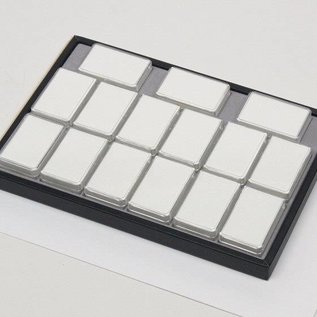 Sliding tray with 15 plastic boxes