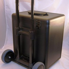 Aluminium sample case with trolley