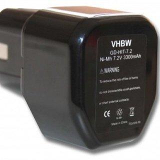 Accu Hitachi 7,2v 3300mAh 3,3Ah Ni-MH Replacement 325292 EB712S EB714S