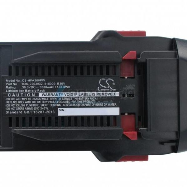 Hilti Accu Hilti 36v 3000mAh 3.0Ah Li-ion B36 B36V 2203932 418009 Replacement