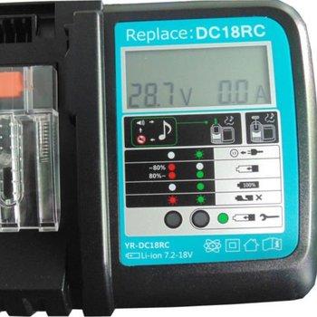 Makita Makita DC18RC DC18RA lader met indicatorscherm Replacement
