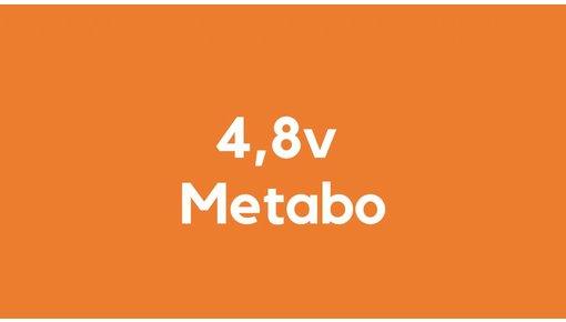 4,8v accu voor Metabo gereedschap
