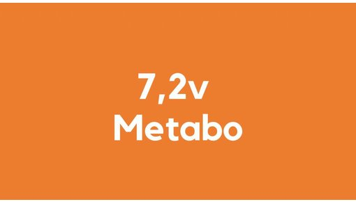 7,2v accu voor Metabo gereedschap