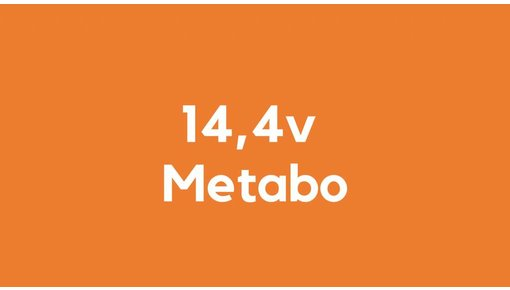14,4v accu voor Metabo accu