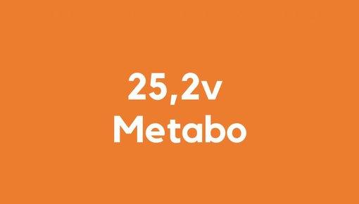 25,2 accu voor Metabo gereedschap