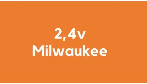 2,4v accu voor Milwaukee gereedschap
