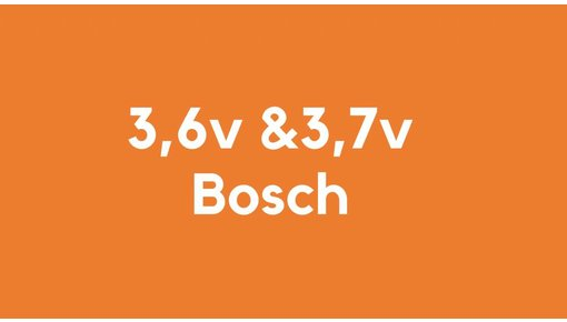 3,6v & 3,7v accu voor Bosch gereedschap