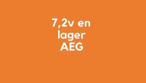 7,2v en lager accu voor AEG gereedschap