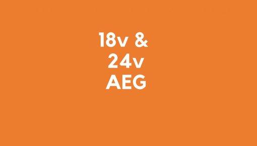 18v & 24v accu's voor AEG