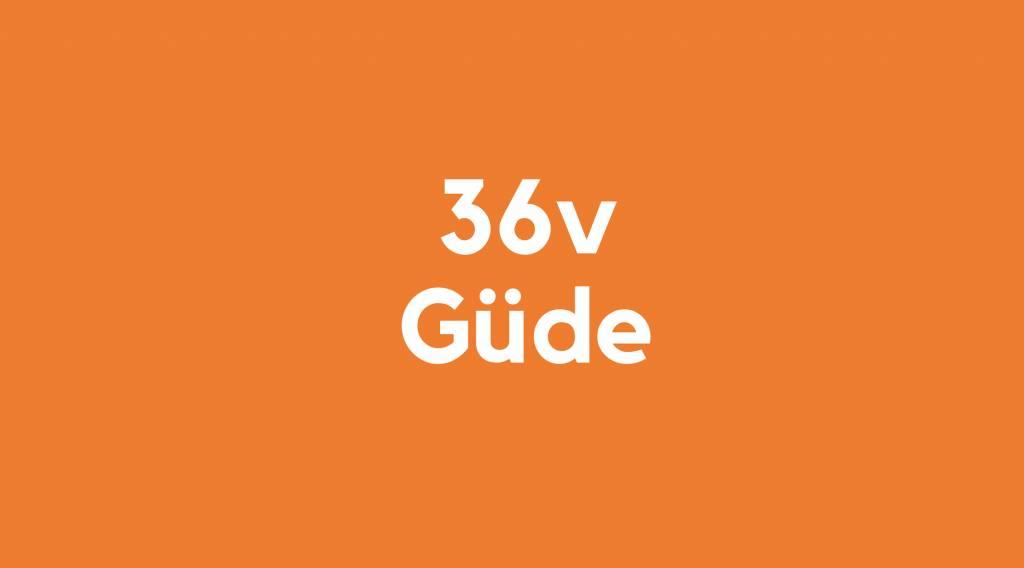 36v accu voor Güde