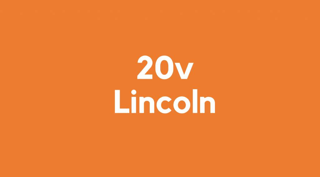 20v accu voor Lincoln