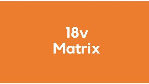 18v accu voor Matrix gereedschap