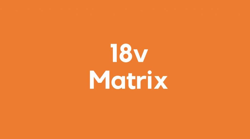 18v accu voor Matrix