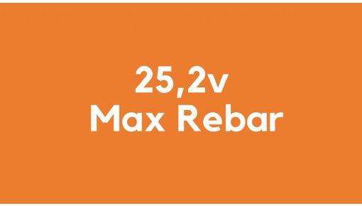 25,2v accu voor Max Rebar gereedschap