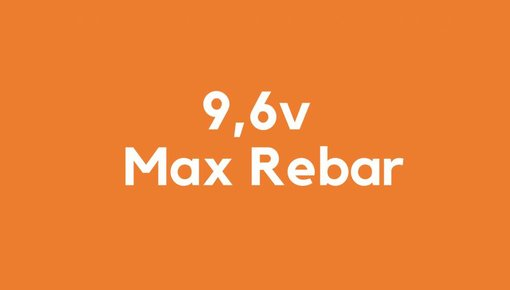 9,6v accu voor Max Rebar gereedschap