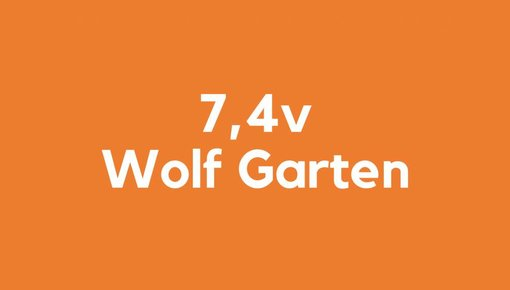 7,4v accu voor Wolf Garten gereedschap