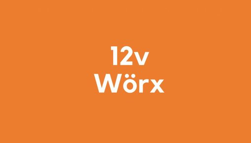 12v accu voor Wörx gereedschap