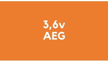 3,6v accu voor AEG