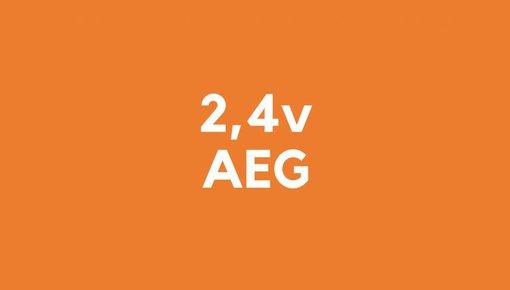 2,4 accu voor AEG gereedschap