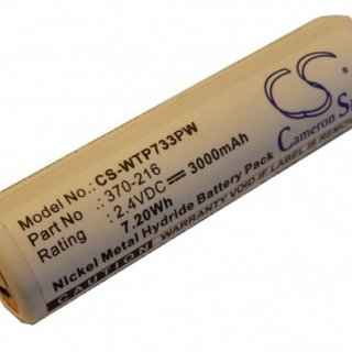 Accu Wahl 2,4v 3000mAh 3,0Ah Ni-MH ISO-Tip 7733 Replacement