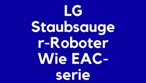 Accu voor LG Staubsauger-Roboter Wie EAC-serie elektrische en robotstofzuigers
