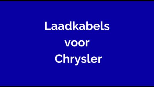 Laadkabel voor Chrysler