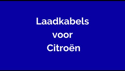 Laadkabel voor Citroën