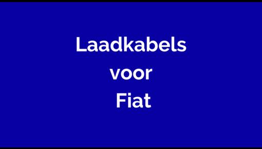 Laadkabel  voor Fiat