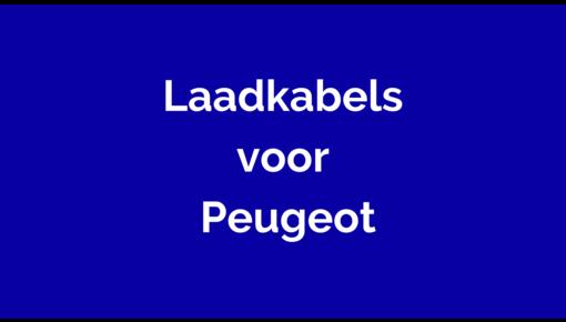 Laadkabel voor Peugeot