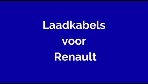 Laadkabel voor Renault