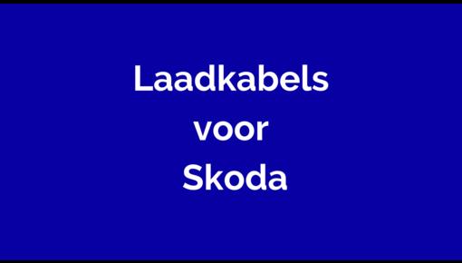 Laadkabel voor Skoda